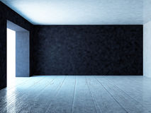 Empty room with dark wall, 3d. Rendering Royalty Free Stock Photo