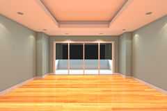 Empty Room decorated gray wall Royalty Free Stock Photography