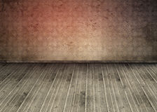 Empty room with dirty floorboards Stock Photography