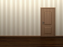 Empty room with door Royalty Free Stock Photo