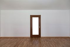 Empty room with door front Royalty Free Stock Photos