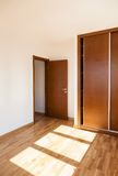 Empty room with door and wardrobe Stock Photo