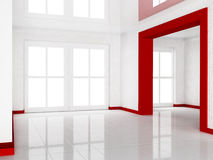 Empty room with  a doorway Stock Photography