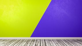Empty Room with Duotone Wall Background Royalty Free Stock Photography
