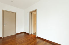 Empty room, entrance door Stock Photography