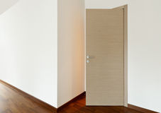 Empty room, entrance door Stock Image