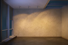 Empty room at evening. 3d rendering Stock Image