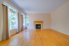 Empty Room with Fireplace royalty free stock image