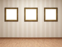Empty room frames Royalty Free Stock Photo
