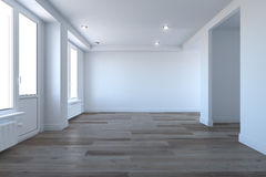 Empty room without furniture Royalty Free Stock Photos