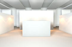 Empty room for gallery Royalty Free Stock Images