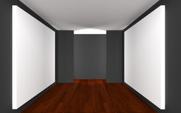 Empty Room Gallery Stock Photography