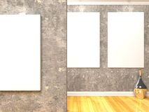 Empty Room Gallery Royalty Free Stock Images