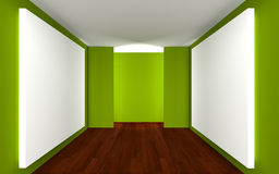 Empty Room Gallery Stock Photos
