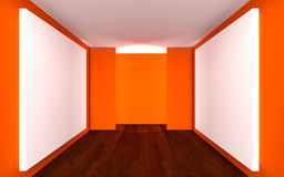 Empty Room Gallery Royalty Free Stock Photography