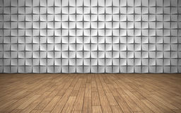 Empty room with geometric pattern on wall Royalty Free Stock Images