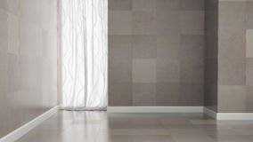 Empty room with granite tile walls Stock Photography