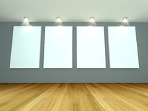 Empty room gray gallery Royalty Free Stock Photography