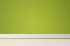 Empty room with green wall and linoleum Royalty Free Stock Images
