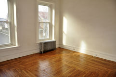 Empty room with hardwood floors royalty free stock images