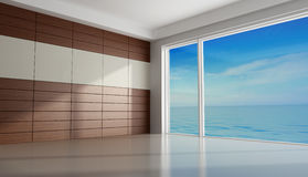 Empty room of an holiday villa Stock Images