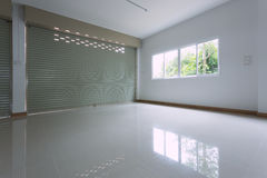 Empty room in house residential building with aluminium roller Stock Image