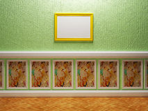 Empty room in an interesting design. With a picture Stock Photography