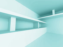 Empty Room Interior Abstract Architecture Background. 3d Render Illustration Stock Photo