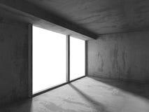 Empty room interior. Abstract concrete architecture dark backgro. Und. 3d render background stock illustration