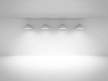 Empty Room Interior Background With Lights Royalty Free Stock Image