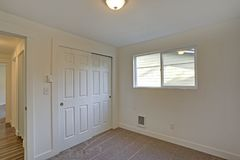 Empty Room Interior With Built In Closet And Carpet Floor Stock Photography