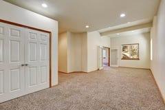 Empty room interior with carpet floor Royalty Free Stock Image