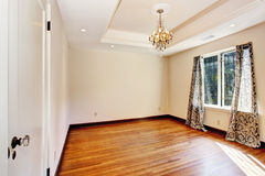 Empty room interior with coffered ceiling Royalty Free Stock Photo