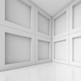 Empty Room Interior. 3d Blue Empty Room Interior Royalty Free Stock Image