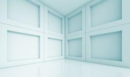 Empty Room Interior. 3d Blue Empty Room Interior Royalty Free Stock Photography