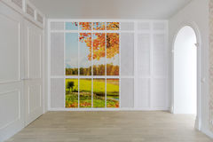 Empty room interior is designed in minimalist Stock Photo
