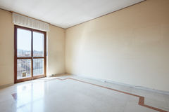 Empty room interior with marble floor Stock Image