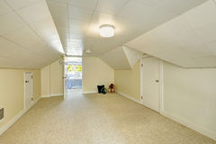 Empty room interior in old house Royalty Free Stock Photo