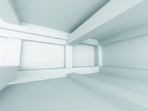 Empty Room Interior White Background Stock Images