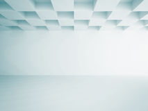 Empty Room Interior White Background. 3d Render Illustration Stock Photography