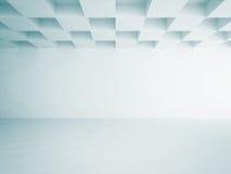Empty Room Interior White Background. 3d Render Illustration stock illustration