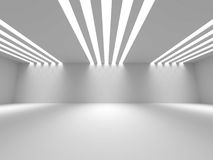 Empty Room Interior White Background. 3d Render Illustration Royalty Free Stock Photos