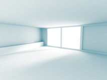 Empty Room Interior White Background. 3d Render Illustration Royalty Free Stock Photography