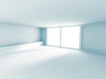 Empty Room Interior White Background. 3d Render Illustration royalty free illustration