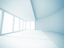 Empty Room Interior White Background Stock Image