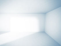 Empty Room Interior White Background. 3d Render Illustration Stock Image