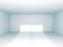 Empty Room Interior White Background. 3d Render Illustration Royalty Free Stock Image