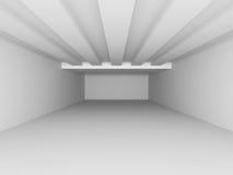 Empty Room Interior White Background. 3d Render Illustration Stock Photo