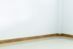 Empty room interior, white tile floor and white wall Royalty Free Stock Image