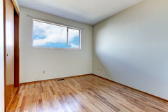 Empty room interior with wood floor. Royalty Free Stock Image